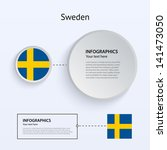 sweden country set of banners...