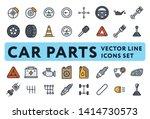 car parts garage color vector... | Shutterstock .eps vector #1414730573
