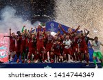 liverpool players celebrate... | Shutterstock . vector #1414744349