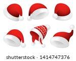 santa claus hats illustration... | Shutterstock .eps vector #1414747376