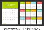 calendar 2020. week start...   Shutterstock .eps vector #1414747649