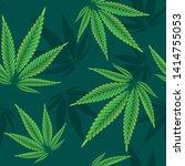 hemp leaves seamless repetitive ... | Shutterstock .eps vector #1414755053