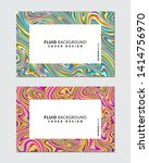 vector marbling art. fluid... | Shutterstock .eps vector #1414756970