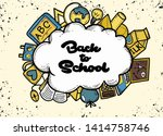back to school banner with... | Shutterstock .eps vector #1414758746