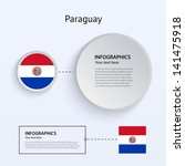 paraguay country set of banners ...