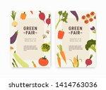 set of green fair  harvest... | Shutterstock .eps vector #1414763036