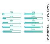 loading bar progress icons ... | Shutterstock .eps vector #1414763993