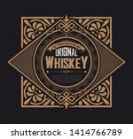 vintage label for packaging.... | Shutterstock .eps vector #1414766789