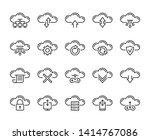 cloud icon. cloud computing... | Shutterstock .eps vector #1414767086