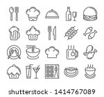 food and drinks icon.... | Shutterstock .eps vector #1414767089