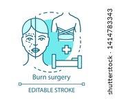 burn surgery concept icon. burn ...   Shutterstock .eps vector #1414783343