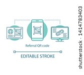referral qr code concept icon.... | Shutterstock .eps vector #1414783403