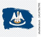 flag of  louisiana from brush...
