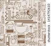 vector seamless pattern on... | Shutterstock .eps vector #1414792610