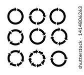 arrow rotation. vector... | Shutterstock .eps vector #1414806263