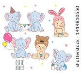 baby boy shower card.... | Shutterstock .eps vector #1414810550