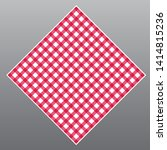 red checkered tablecloth on... | Shutterstock .eps vector #1414815236