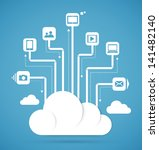 cloud computing technology... | Shutterstock .eps vector #141482140