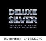 vector deluxe silver alphabet...   Shutterstock .eps vector #1414821740