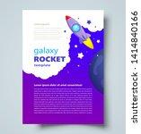 rocket flyer galaxy theme... | Shutterstock .eps vector #1414840166