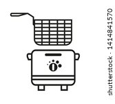 fryer vector icon  deep fryer ... | Shutterstock .eps vector #1414841570