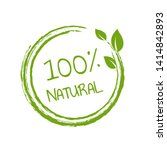 100  natural product white...   Shutterstock . vector #1414842893