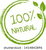 100  natural product white... | Shutterstock .eps vector #1414842896