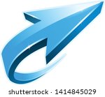 blue arrow icon curly form ... | Shutterstock .eps vector #1414845029
