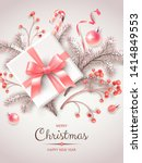 vertical banner with christmas... | Shutterstock .eps vector #1414849553