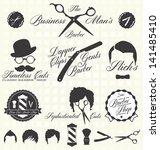 Vector Set  Vintage Barber Sho...