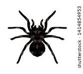 vector isolated hanging spider...   Shutterstock .eps vector #1414854953