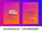 electronic fest. curvy show... | Shutterstock .eps vector #1414860683