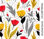 floral seamless pattern for... | Shutterstock .eps vector #1414870046