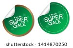 super sale stickers isolated on ... | Shutterstock .eps vector #1414870250
