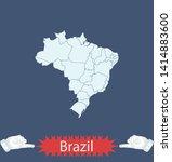 illustration vector map of... | Shutterstock .eps vector #1414883600