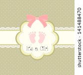 baby shower card for baby girl  ... | Shutterstock .eps vector #141488470