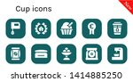 cup icon set. 10 filled cup...   Shutterstock .eps vector #1414885250