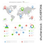 detailed infographic elements... | Shutterstock .eps vector #141489346