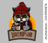 Vector Of Hipster Cat With A...