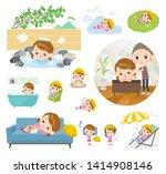 a set of nursery school girl... | Shutterstock .eps vector #1414908146