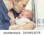 side view of young mother... | Shutterstock . vector #1414913279