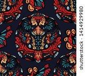 boho flower mandala vector all... | Shutterstock .eps vector #1414929980