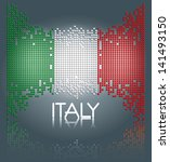 Italian Flag Made Out Of Squar...
