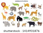 big collection of adorable wild ... | Shutterstock .eps vector #1414931876