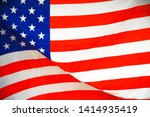 close up america flag waving... | Shutterstock . vector #1414935419