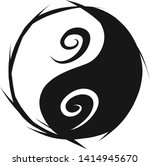 a symbol of ying yang with... | Shutterstock .eps vector #1414945670