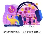 young people dancing in night... | Shutterstock .eps vector #1414951850