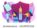 woman getting flu shot....   Shutterstock .eps vector #1414952156