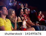 young people sitting in... | Shutterstock . vector #141495676