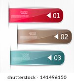 set of bookmarks  stickers ... | Shutterstock .eps vector #141496150